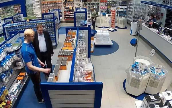 монтаж камер видеонаблюдения в магазин в Чите