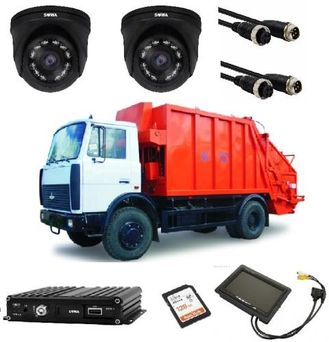Комплект видеонаблюдения для мусоровоза купить в Чите