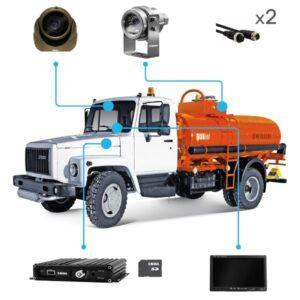 Комплект видеонаблюдения для бензовоза купить в Чите