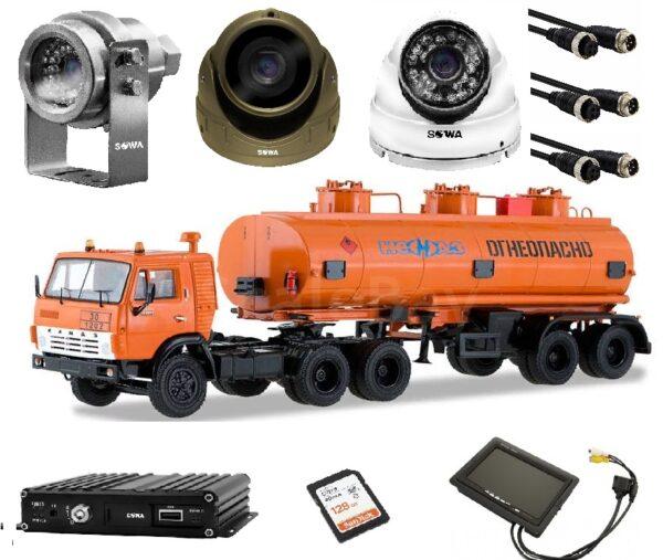 Готовый комплект видеонаблюдения для бензовоза купить в Чите недорого