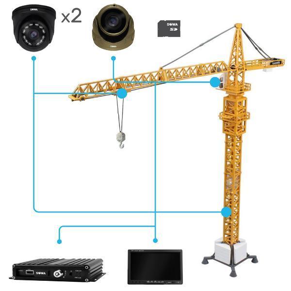Комплект видеонаблюдения для крана башенного купить в Чите