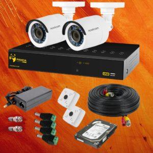 Готовый комплект видеонаблюдения 2 уличные камеры