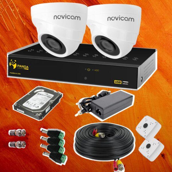 Комплект видеонаблюдения 2 внутренние камеры