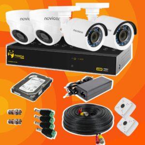 Готовый комплект видеонаблюдения 4 камеры