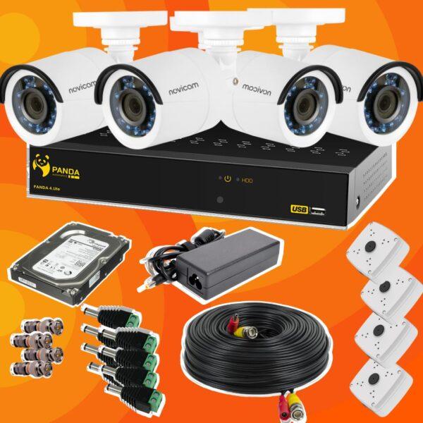 Готовый комплект видеонаблюдения из 4 камер