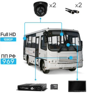 Комплект видеонаблюдения для автобуса купить в Чите