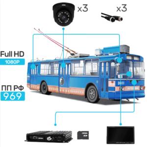Комплект видеонаблюдения для троллейбуса купить в Чите