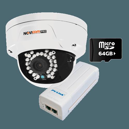 NOVIcam PRO NC22VPR (ver.4057) + MicroSD 64Гб + PV-POE01GB