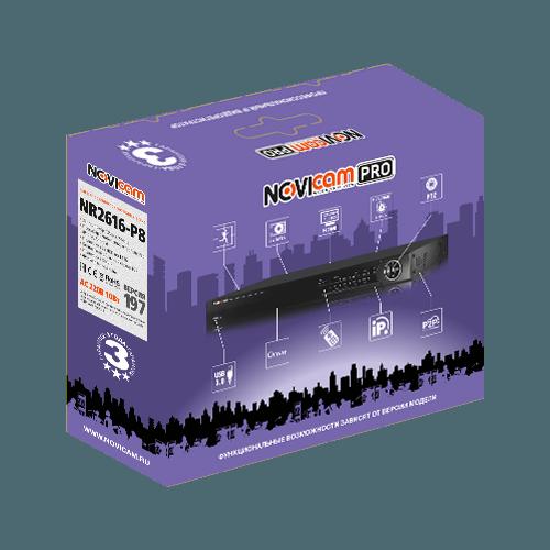 IP Регистратор NOVIcam PRO NR2616-P8 (ver.197)