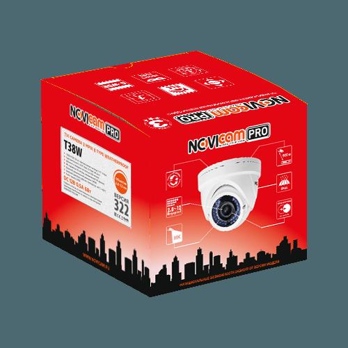 Уличная TVI видеокамера NOVIcam PRO T38W (ver.322)